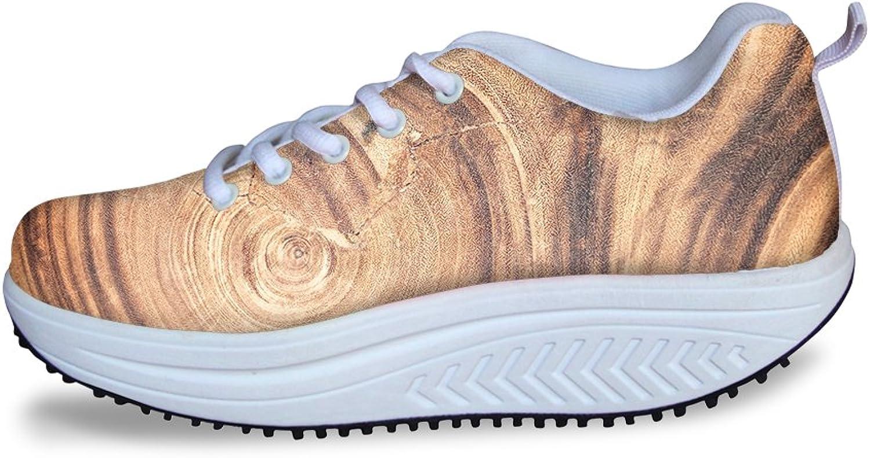 Women's Comfortable Walking Sneakers Lightweight Air Mesh Fitness Tennis shoes (Wood)