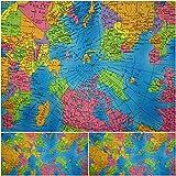 DIE NÄHZWERGE Baumwollstoff Motivkollektion Weltkarte –