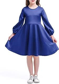 Best girls long sleeve blue dress Reviews
