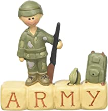 "Blossom Bucket ""Block-'Army' with Boy Soldier"" Decor"