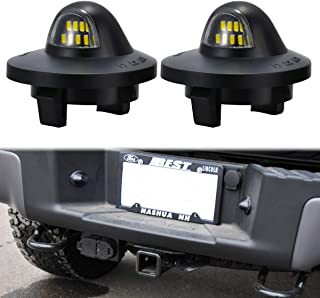 TUINCYN Kennzeichenbeleuchtung schwarz Objektivgehäuse kompatibel mit Ford F150 F250 F350 F450 F550