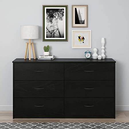 Mainstay Drawer Dresser, (6-Drawer, Nightfall Oak)