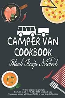 Camper Van Cookbook Blank Recipe Notebook: RV Camping Cookbook Blank Recipe Book Journal To Write In Favorite Family Recip...
