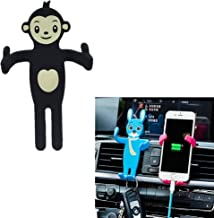 XUANTAI Universal Phone Holder for Car Air Vent Mount Holder Cartoon Cradle Compatible Holder for iPhone 8/7/7Plus,/6s, All of The 3.5-6.5 Inch Cell Phone Holder(Black Monkey)