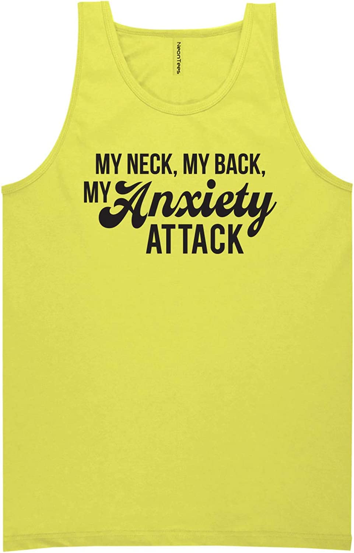 zerogravitee My Neck My Back My Anxiety Attack Neon Tank Top
