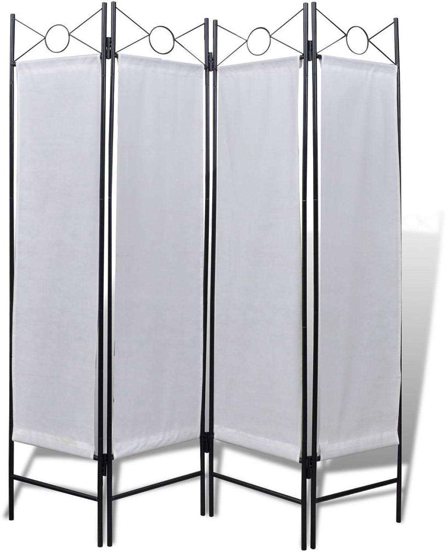 Anself 4 Panel Folding Room Divider, White 63  x 71