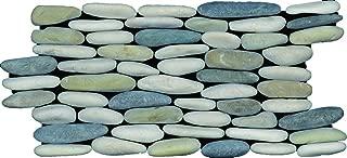 Standing Ocean Blend Pebble Tile, 6