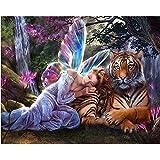 YDPTYANG Enfants Puzzles 1000 Pieces Fée Papillon Et Tigre Adultes en Bois Puzzle Classique Créatif Jeu Puzzles Art Jouet Puzzles