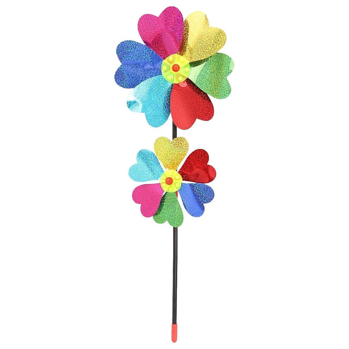 店主シャイニング水銀のBiuuu DIYのスパンコール風車風のスピナーホームガーデンヤードの装飾キッズおもちゃ