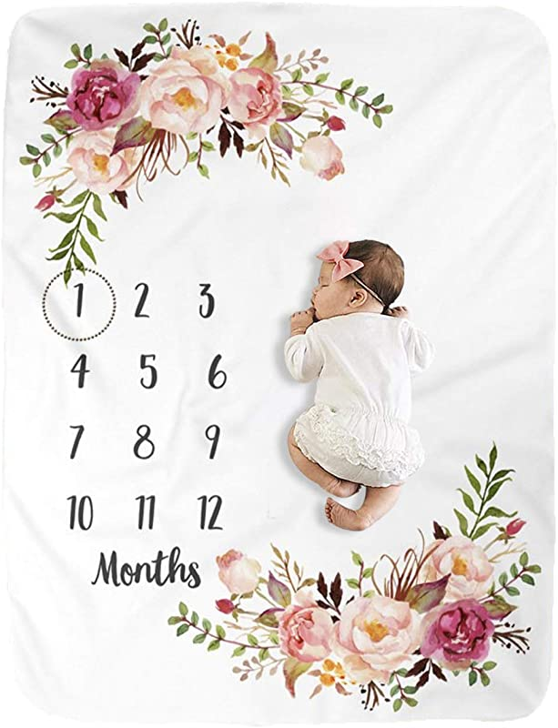 Milestone Blanket Baby Milestone Blanket Girl Boy Large Baby Blankets For Girls And Boys Newborn Photography Premium Fleece Baby Monthly Blanket Shower Gifts