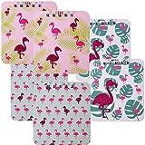 6 Stück TE-Trend Flamingo Motiv Spiralblock Kinder Mädchen Notizblock Mitgebsel 40 Blatt 80x90mm Blanko 3-fach sortiert mehrfarbig