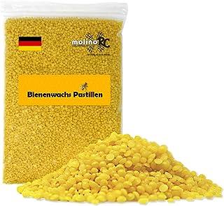 500g 100% Reine Bienenwachs Pastillen 500 Gramm 0,5kg | Perfekt für Kosmetik & Kerzen Bienenwachstücher Herstellung | 100% natur | Biene | deutsche Marke molinoRC