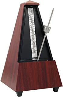 Mechanical Metronome with Bell, Pyramid Metronome,Traditional Metronome, Triangle Metronome for Musicians,Tempo 40-208bpm by Bravodeal