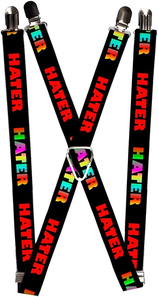Buckle-Down Men's Suspender-Haters Quote, Multicolor, One Size