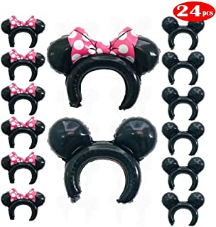 Mickey and Minnie Balloons Party Hats Headband for Boys Girls Mickey Minnie Mouse Photo Props Baby Shower Party Supplies for Girls Boys Kids &Adults 24 Pack
