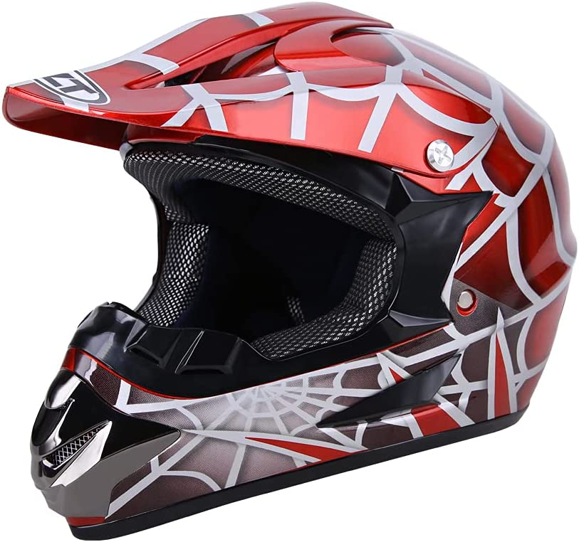 OUMURS Cheap super Discount mail order special price Kids Motocross Helmet Youth Children and Red Spider Boys
