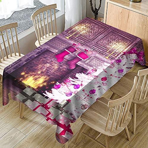 Liny Chemin de Table de No/ël Rectangulaire Nappe de Table de No/ël Couvertures de Table F/ête de No/ël D/écoration,13.77 X 68.89