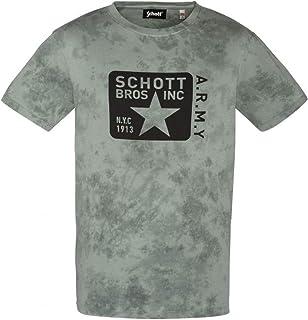 Mens Schott NYC TSBRADY Retro Biker Skull Legend T-Shirt