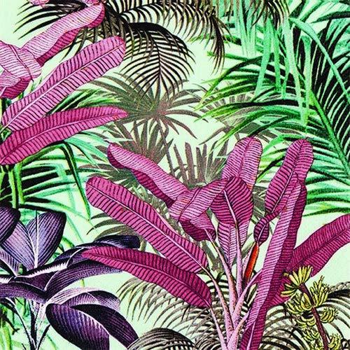 20 servetten tropische planten in jungle als tafeldecoratie 33x33cm