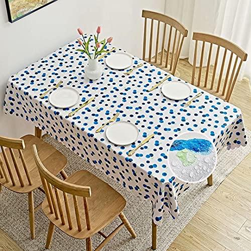 MJLING Waterproof Nappe De Table Anti Tache AntidéRapant PVC Blueberry Entretien Facile pour...