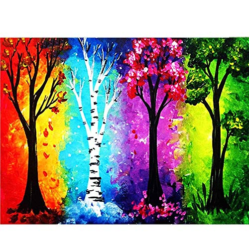 ZHLMMZD Adult Jigsaw Puzzle 6000 Piezas Four Seasons Tree Jigsaw Puzzle Inteligencia Unzipped Fun Family Game Gran Jigsaw Puzzle Toy Gift for Adult Child Game