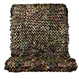 HYOUT Woodland Camouflage Netting,Jungle Maple Camo Net for Hunting Shooting Blind Camping Military Party Decoration Watching Hide (Italy Woodland, 5ftx10ft/1.5mx3m)