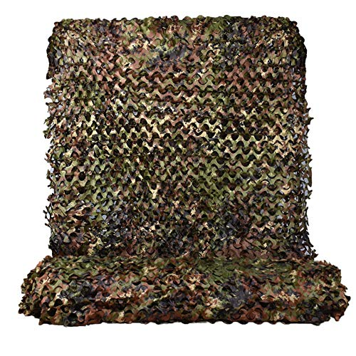 HYOUT Woodland Camouflage Netting,Jungle Maple Camo Net for Hunting Shooting Blind Camping Military Party Decoration Watching Hide (Italy Woodland, 5ftx20ft/1.5mx6m)