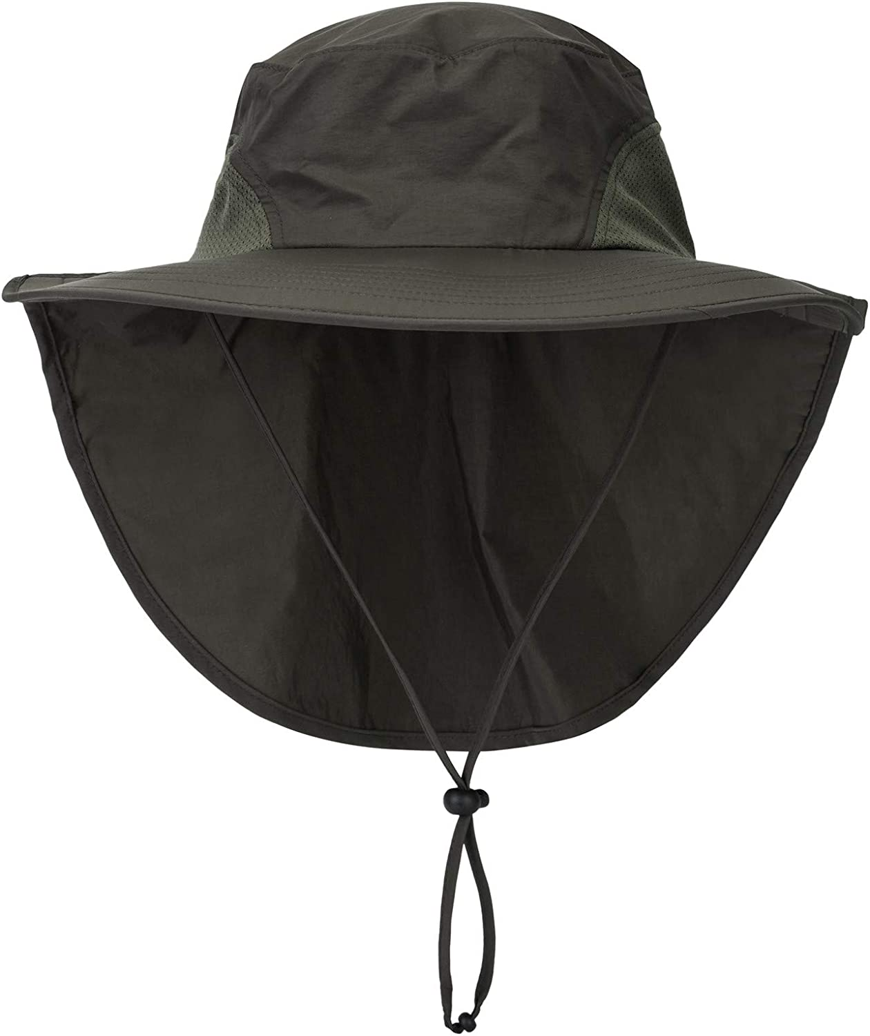 Connectyle Outdoor Large Brim Fishing Hat with Neck Cover UPF 50+ Mesh Sun Hats