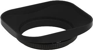 Haoge 46mm Square Metal Screw-in Lens Hood for Leica Summilux-M 35mm f/1.4 50mm f1.4 E46, Summarit-M 90mm f/2.5 75mm f2.5 E46, Summicron-M 28mm F2 E46 ASPH, Voigtlander 35mm f/1.7 28mm f2 Lens Black