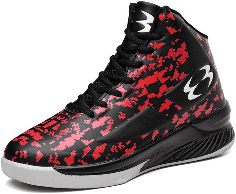 Mäns bästa designer för atletiska atletiska atletiska och Inspirerade skor Sport Slip Läther High Top Basketball Athletic Sneeaker skor (Färg  Röd, Storlek  44 EU)  lagra på nätet