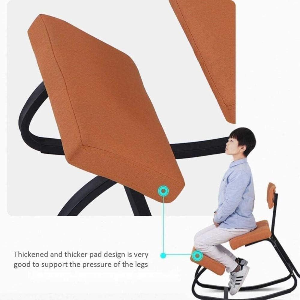 Fauteuil Soulager maux de dos et de cou amélioration de la posture for Bureau Chaise de bureau Chaise tabouret (Color : Blue) Gray