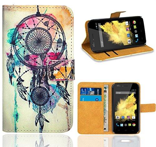 Wiko Birdy Handy Tasche, FoneExpert Wallet Hülle Flip Cover Hüllen Etui Ledertasche Lederhülle Premium Schutzhülle für Wiko Birdy