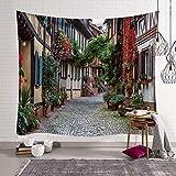 WERT Nueva Zelanda Estilo de la Ciudad Tapiz Colgante de Pared impresión 3D decoración del Dormitorio callejón del país Manta de Pared Tela de Fondo A5 130x150cm