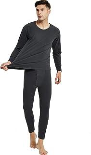 Newrong Men's Autumn Velvet Underwear and Trousers