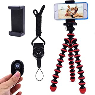 Phone Tripod, Ibeston Octopus Tripod for iPhone/Universal Smartphone/Cell Phone/Camera Arbitrary Installed with Remote Con...