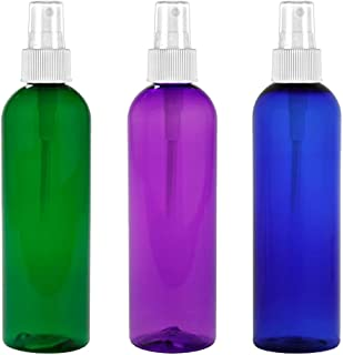 MoYo Natural Labs 4 oz Spray Bottles Fine Mist Empty Travel Containers, BPA Free PET Plastic for Essential Oils and Liquids/Cosmetics Psychedelic Bottle (Neck 20-410) (Pack of 3 Multi Color)