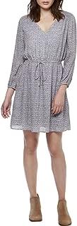 Lucky Brand Womens Chiffon A-Line Dress