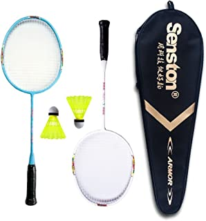 Senston Graphite Mini Badminton Set Junior Badminton Racket Kit Outdoor Sport Game Set,Gifts for Kids-3 Choices
