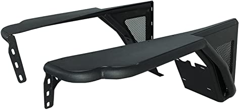 Paramount Restyling 51-0042 Black Front Steel Fender with Flare Mesh Insert (Jeep Wrangler TJ)
