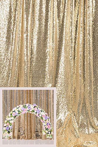 Kate Foto Achtergrond Pailletten Champagne Goud Bruiloft Pailletten Decortion Fotohokje 10x10ft/3x3m Broadway Vintage Decoratie Glinsterende Gordijnen Feestdecoratie Fotografie Achtergronden