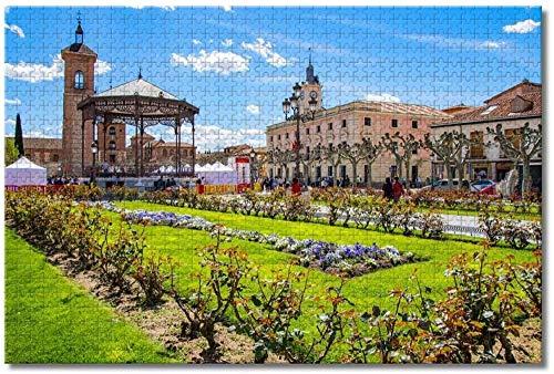 Puzzle- España Palacio Arzobispal Alcalá de Henares Rompecabezas para Adultos Niños 1000 Piezas Juego de Rompecabezas de Madera para Regalos Decoración del hogar