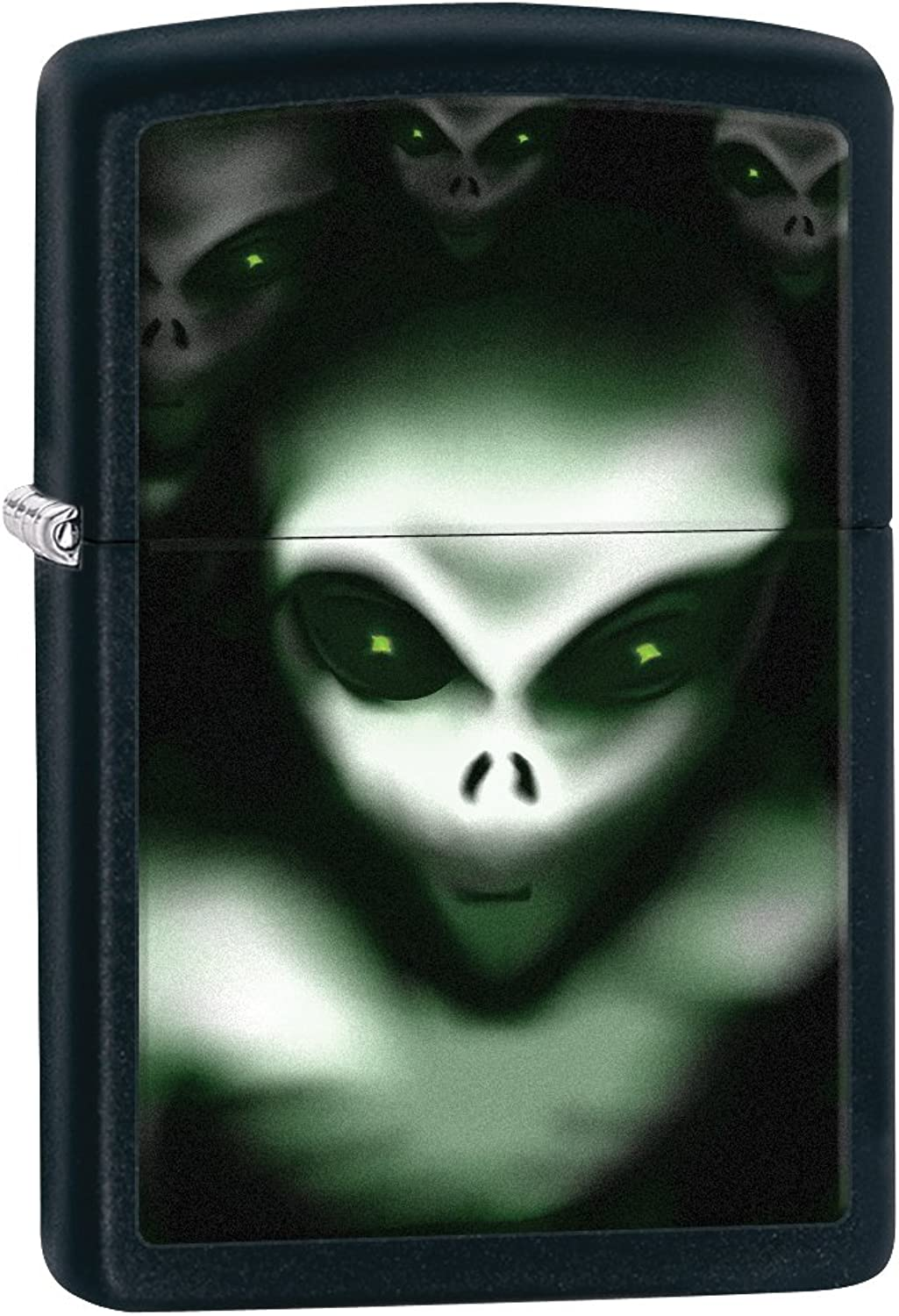 Zippo Scary Alien Pocket Lighter, Black Matte