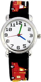 Relógio infantil 3D adorável com pulseira de silicone à prova d'água digital de quartzo redondo relógio de pulso Time Prof...