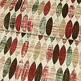 Stoffe Werning Dekostoff ovales Retro Muster rot
