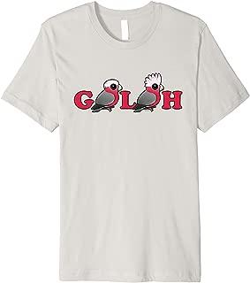 Cute Cartoon Galah Pink Parrots Bird Lover Gift Idea Premium T-Shirt