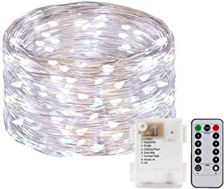 Honche 2 Pack 50 Led Fairy Lights Decor Battery Operated with Remote Lights Waterproof le Lights Copper Wire String Lights...