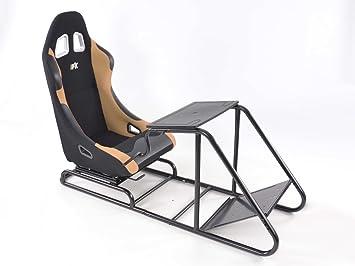 Fk Automotive Game Seat Für Pc Und Spielekonsolen Stoff Schwarz Beige Auto