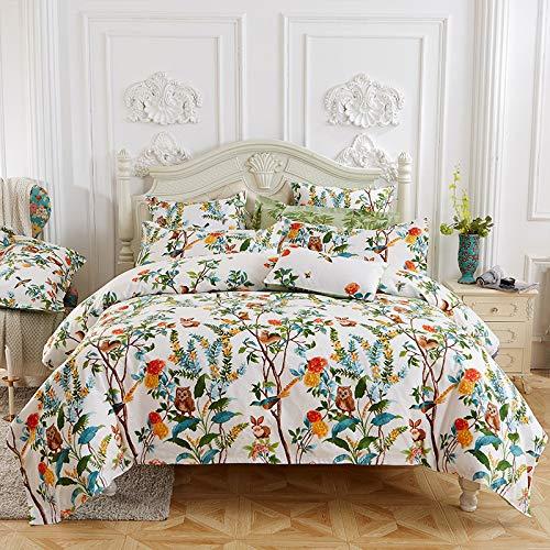 SONGXZ Bettlaken, Baumwolle, 4-teilig, hautfreundlich, einfaches Doppelbett, 1,5 m / 1,8 m / 2,0 m / 2,2 m, Secret Manor White, B