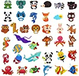 39 Pcs 5D Diamond Painting Stickers Kit for Kids, Funny & Colorful DIY Paint by Number Art Craft Painting with Diamonds for Children, Adults & Beginners (Animal & Sea World)