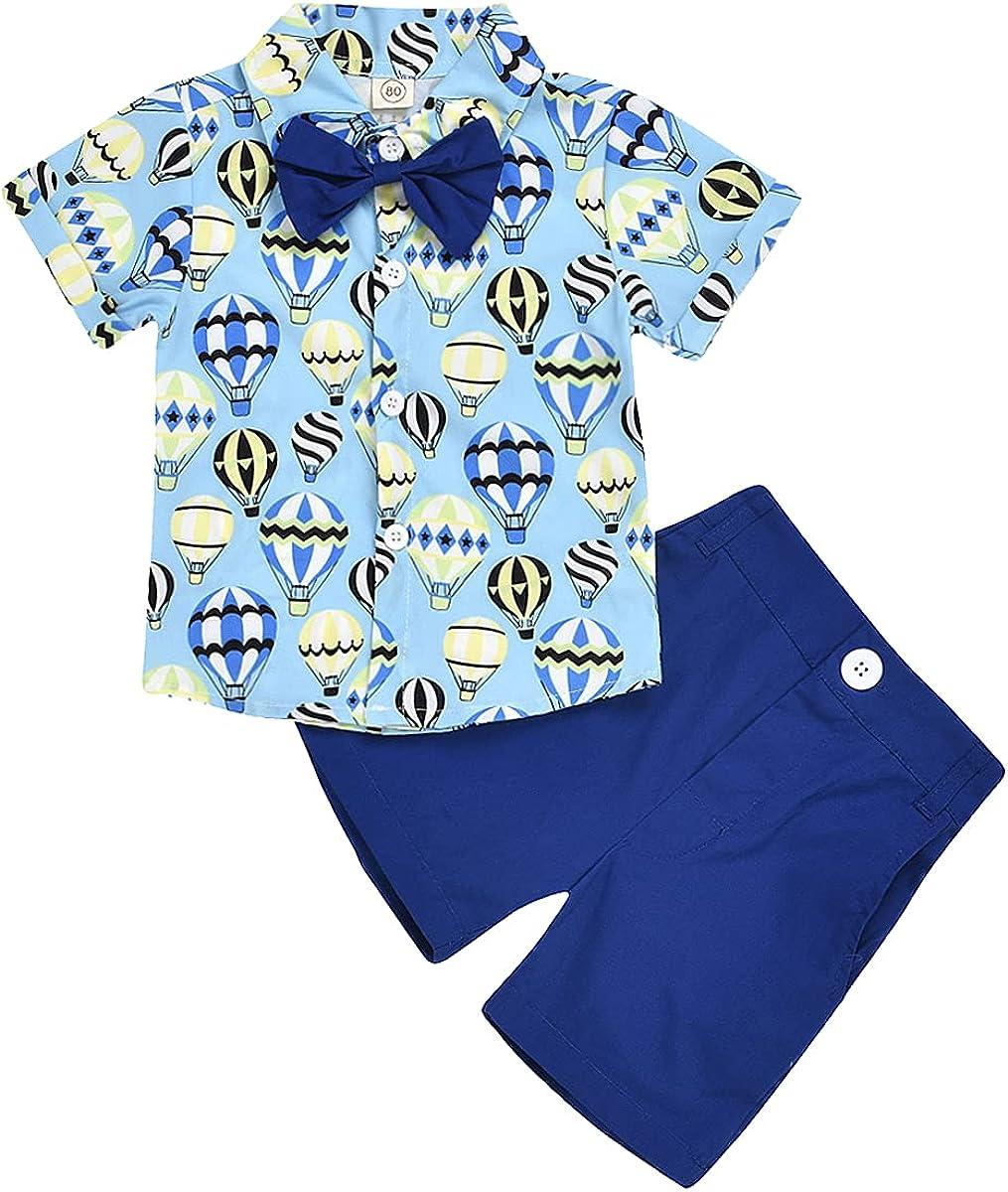 Baby Boy Cotton Clothing Short Sets Cartoon Print Short Sleeve Playwear Set 2Piece Summer Outfit
